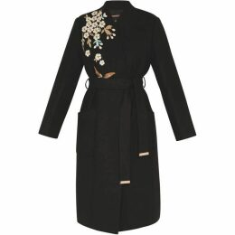 Ted Baker GRACEFUL EMBROIDERED WOOL COAT