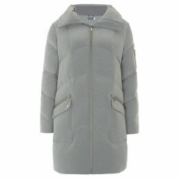 Mint Velvet Grey Duvet Padded Coat