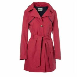 Covert Overt Cotton Hooded Belted Jacket