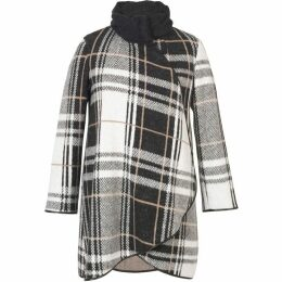 Chesca Check Cable Collar Coat