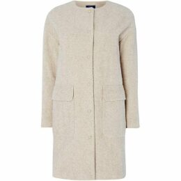 Gant Collarless Boiled Wool Coat