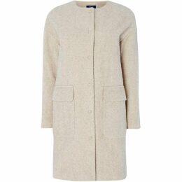 Gant Collarless Boiled Wool Coat