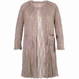 Chesca Pale Mink Matt Satin Lace Short Coat