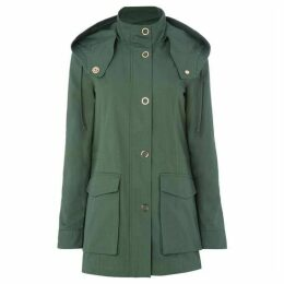 Armani Exchange Caban Coat in Moss
