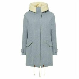 Sessun Wool coat with trim hood
