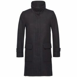 Tommy Hilfiger Carrie Wool Funnel Collar Coat