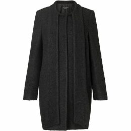 James Lakeland Boucle Tie Neck Coat