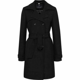 Carolina Cavour Ladies Woollen Winter Coat With Belt Detail
