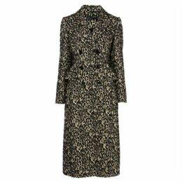 Karen Millen Leopard Print Longline Coat