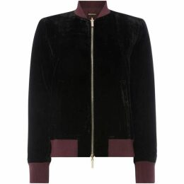 Armani Exchange Double Zip Velvet Bomber Jacket