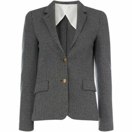 Gant Button Up Herringbone Jersey Blazer