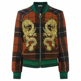Sofie Schnoor Checked dragon bomber