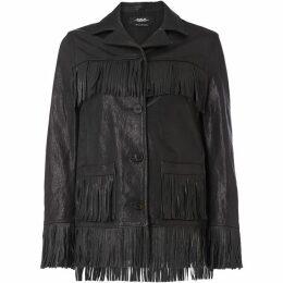 Replay Fringed Leather Jacket