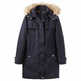 Joules Aspen Parka Coat With Faux Fur Trim