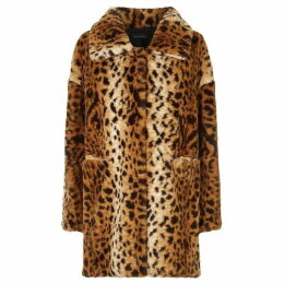 James Lakeland Leopard Faux Fur Coat