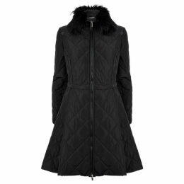 James Lakeland Faux Fur Quilted Coat