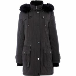 DKNY Poly Fill Parka Coat with Faux Fur