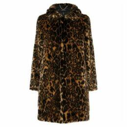 Karen Millen Longline Faux Fur Coat