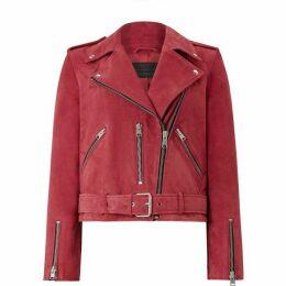 All Saints Suede Balfern Biker Jacket