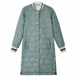 Sandwich Longline Quilted Jacket