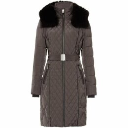 Phase Eight Davina Long Mixed Diamond Puffer