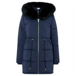 Maison De Nimes Double Layered Parka with Faux Fur