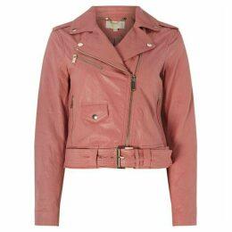 MICHAEL Michael Kors Metallic classic moto leather jacket