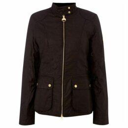 Barbour International Black Flag Short Wax Jacket