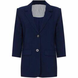 Yumi Cropped Sleeve Blazer Jacket