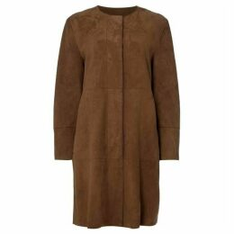 Max Mara Weekend Pavento long leather trench coat