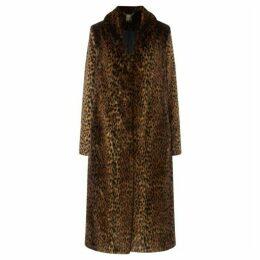 Biba Leopard faux fur coat