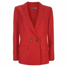 Mint Velvet Red Double Breasted Blazer