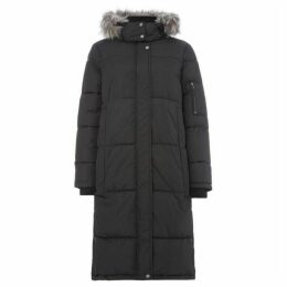 Label Lab Stormy longline puffer with faux fur