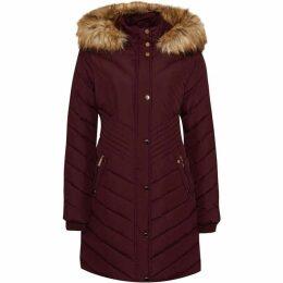 Carolina Cavour Ladies Down Winter Jacket With Faux Fur