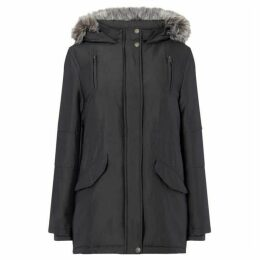 Maison De Nimes PARKA WITH FAUX FUR HOOD