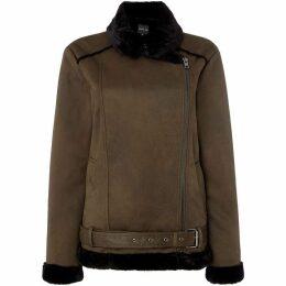 Label Lab Annie aviator faux fur shearling jacket