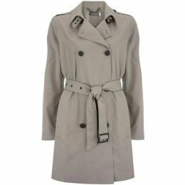 Mint Velvet Pale Khaki Belted Trench Coat