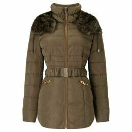 Phase Eight Faux Fur Trim Paula Puffer Jacket