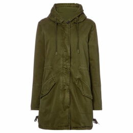 Maison Scotch Khaki parka with zip out lining