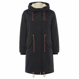 Sessun Parka with hood and zip front