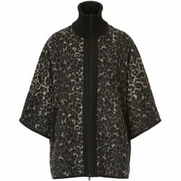 Betty Barclay Animal print batwing poncho jacket