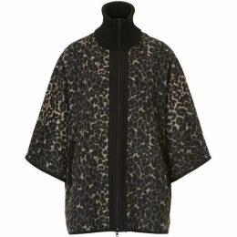 Betty Barclay Animal print batwing poncho jacket