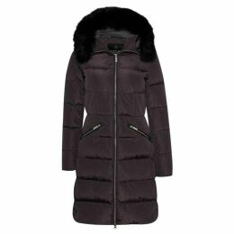 Carolina Cavour Ladies Down Winter Jacket With Faux Fur