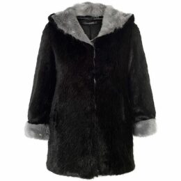 Chesca Hooded Faux Fur Coat