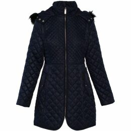 Carolina Cavour Ladies Quilted Jacket W. Detachable Faux Fur Hood
