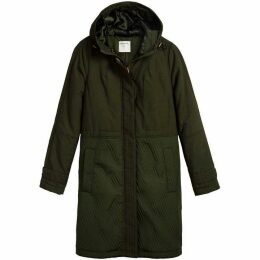 Sandwich Quilted Hooded Parka