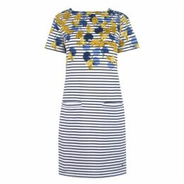 Joules Francis Print Square Neck Jersey Dress