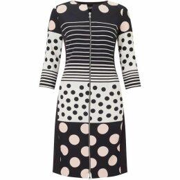 James Lakeland Polka Dot Zip Dress