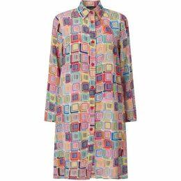 James Lakeland Print Button Shirt Dress