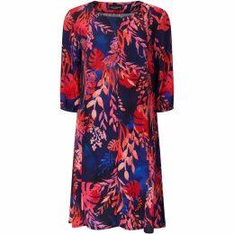 James Lakeland Tropical Print Shift Dress